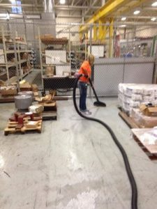 Sewage Backup Cleaning At Warehouse