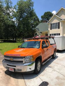 Mold Remediation Truck At A Residential Job Site
