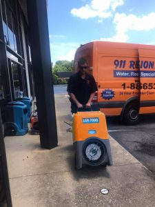 Prepping Mold Removal Equipment At 911 Restoration Headquarters